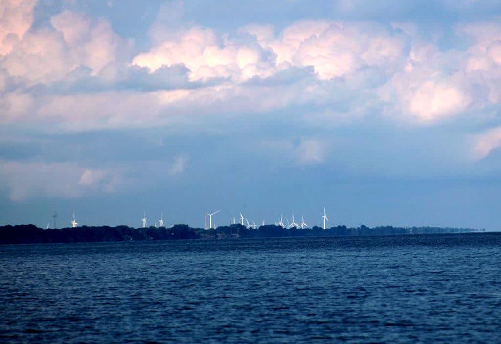 Cloudy beach sky