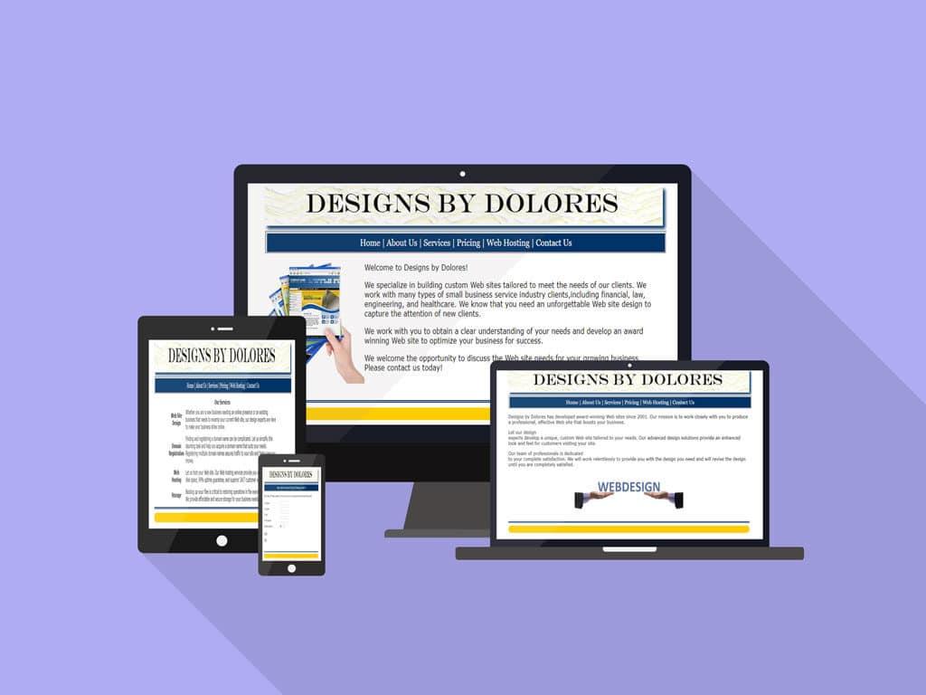 Designs by Delores site