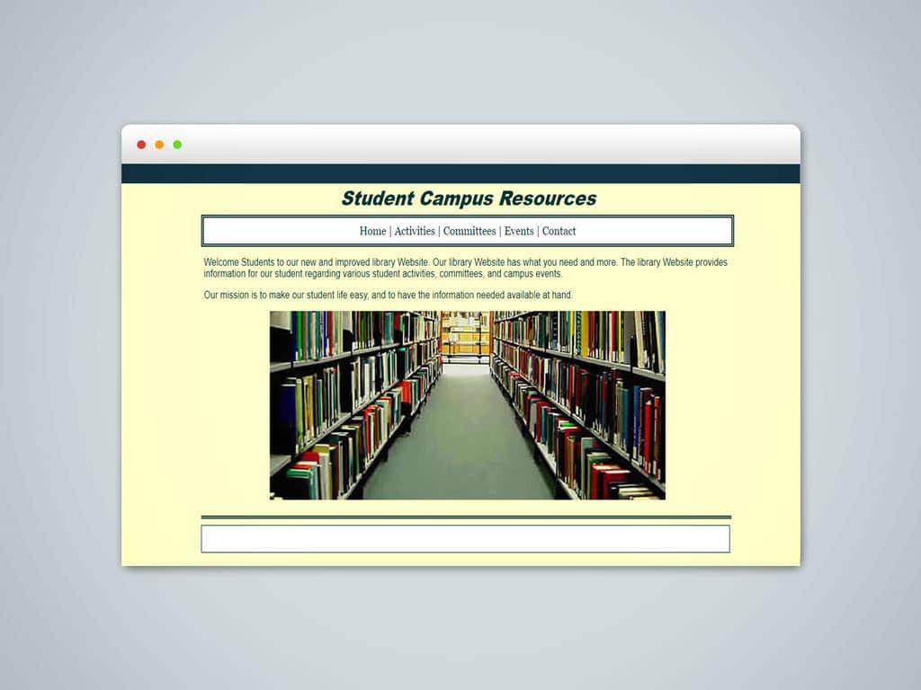 Student Campus Resources Site