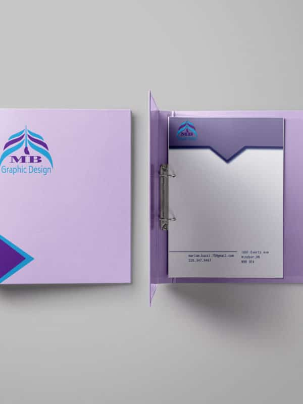 Binder stationery design
