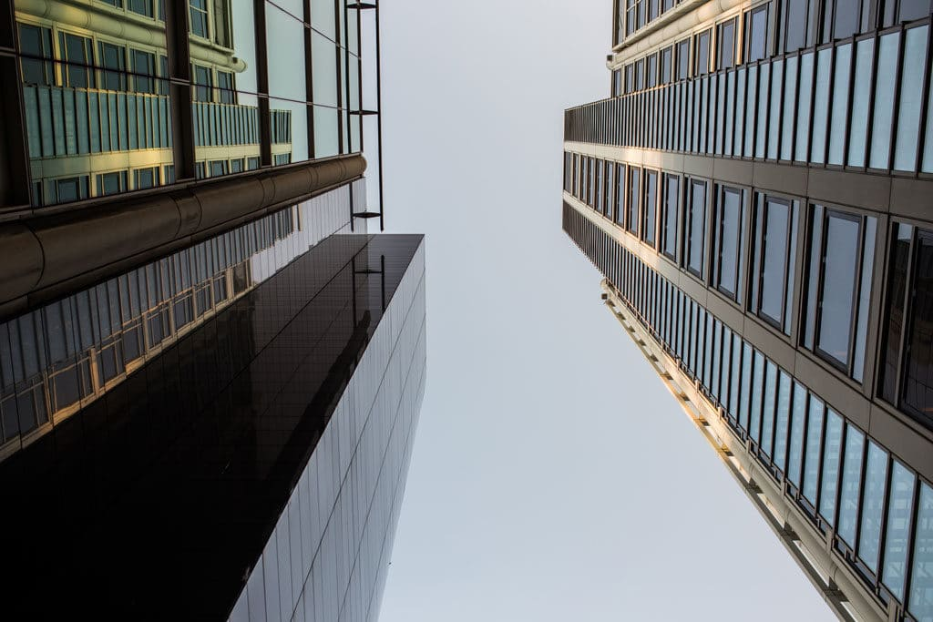 Buildings and sky