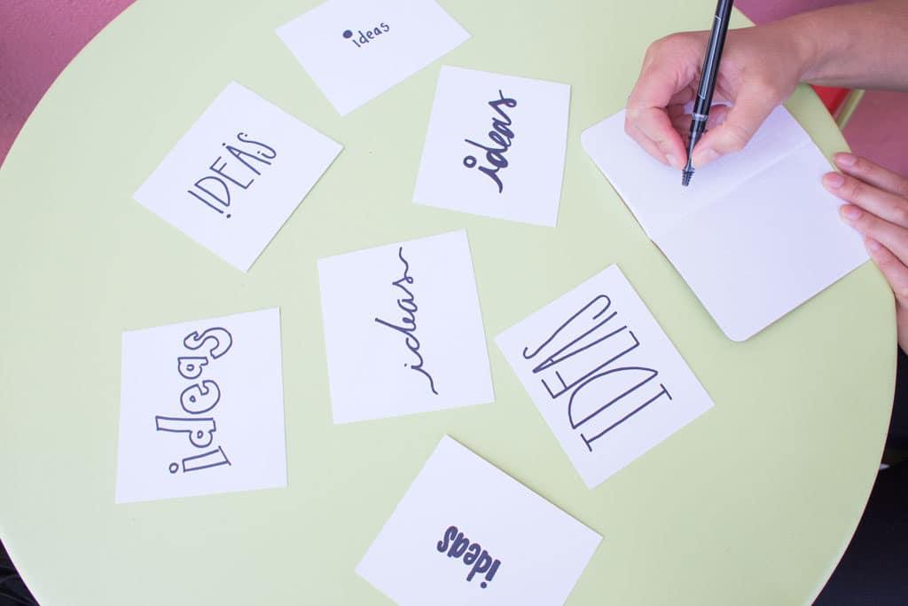Ideas stickers.