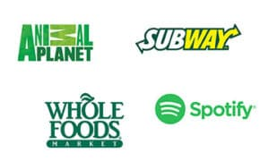 Companies that use the colour green in their logos.