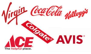 Companies that use the colour red in their logos.