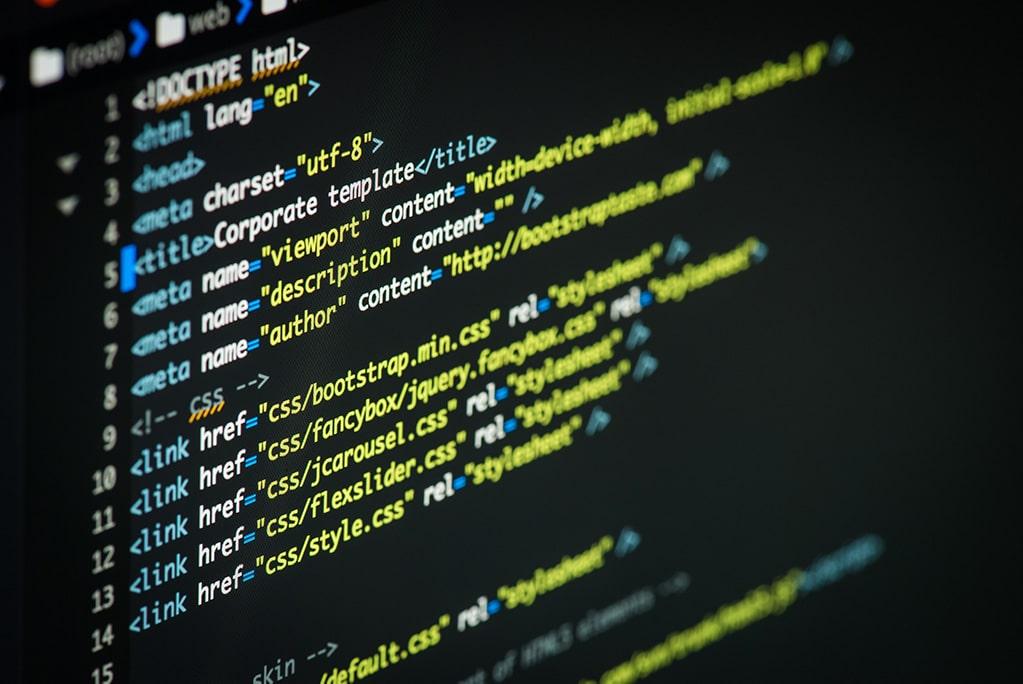 Meta element in HTML code.