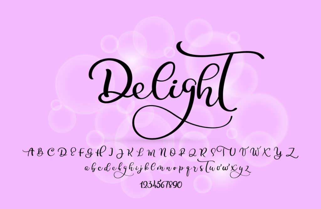 Script or Handwritten fonts.