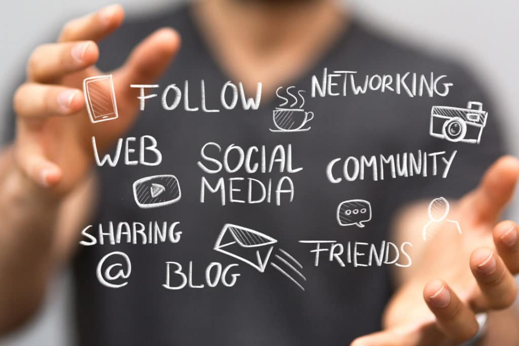 Social media network and communication.